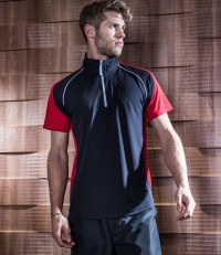 Panel Zip Neck Performance Top