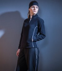 Ladies Zip Neck Micro Fleece